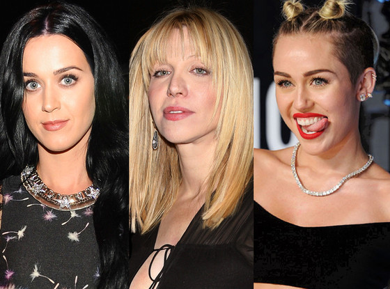 Katy Perry, Courtney Love, Miley Cyrus